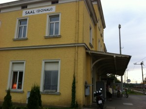 Our final stop, the train station at Saal ab der Donnau