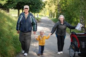 Walking with Grandma and Grandpa