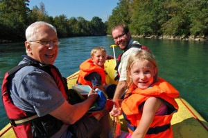 Rafting the Aare
