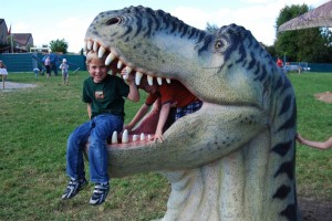 James and a dino