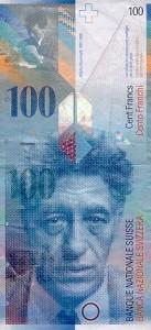 100 Swiss Franc Note