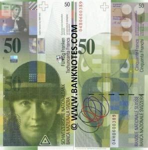 50 Swiss Franc Note