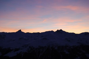 Sunset at the Weisshorn Hotel